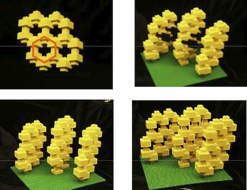Legos showing graphite structure