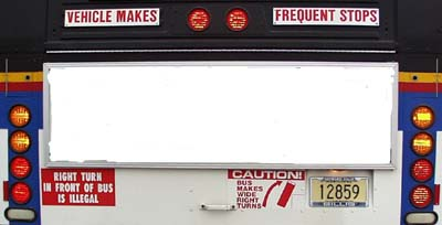 LEDs on back of a bus