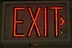 LEDs Red Exit Sign