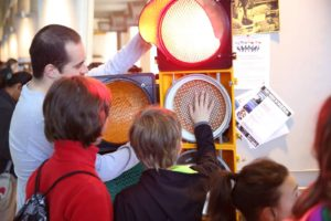 Volunteers explain science at engineering expo